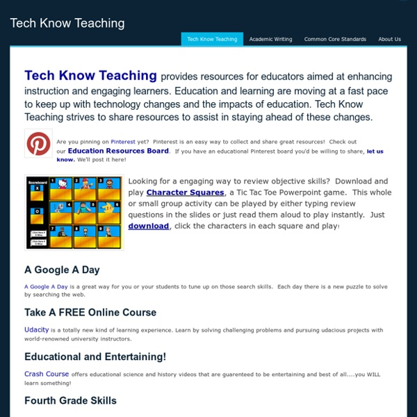 Tech Know Teaching - Tech Know Teaching