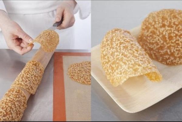 Technique de cuisine : préparer des tuiles caramelisées