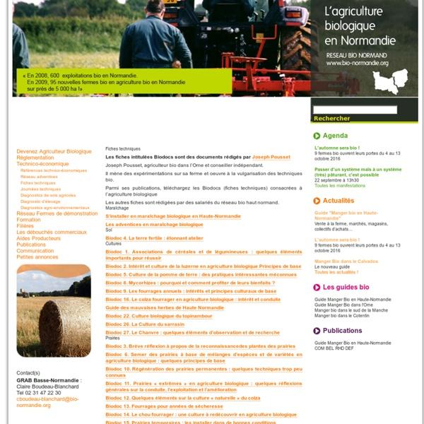 L'agriculture biologique en Normandie