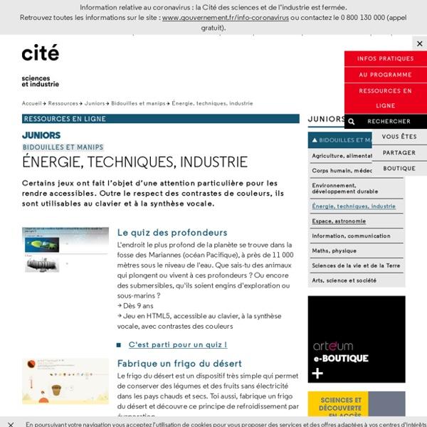 Énergie, techniques, industrie - Bidouilles et manips