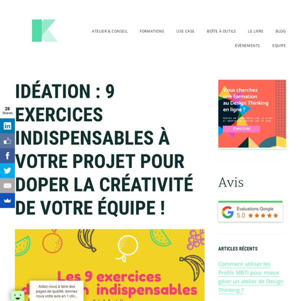 Idéation : 9 exercices et techniques de brainstorming pour améliorer la créativité