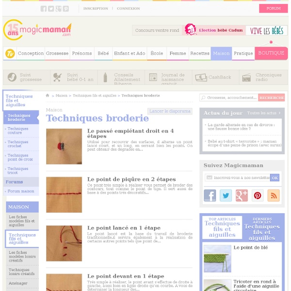 Techniques broderie
