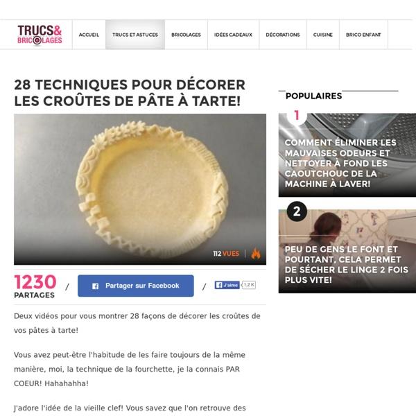 28 techniques pour décorer les croûtes de pâte à tarte! - Trucs et Astuces - Des trucs et des astuces pour améliorer votre vie de tous les jours - Trucs et Bricolages - Fallait y penser !