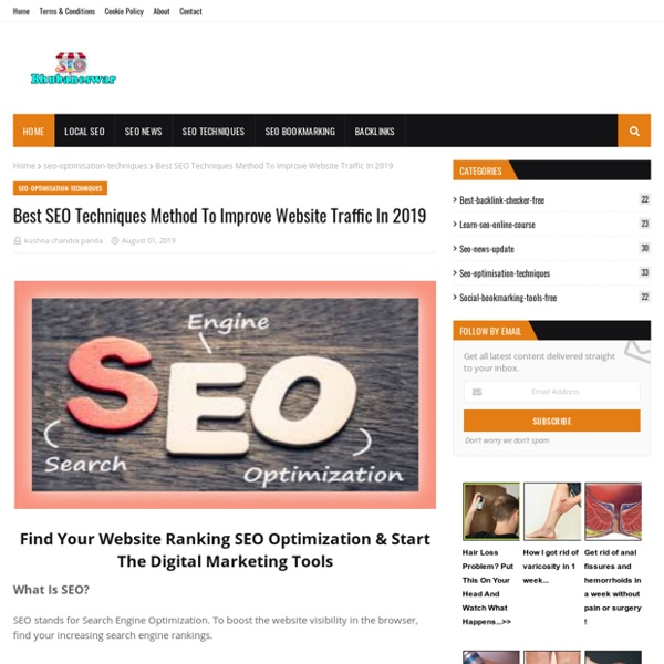 Best SEO Techniques Method To Improve Website Traffic In 2019