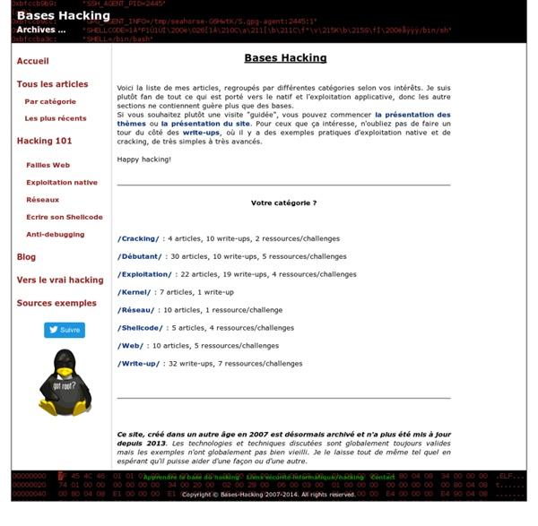 Apprendre le hacking - Les bases du hack et la sécurité informatique, le site du vrai hacking