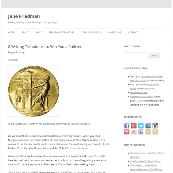 8 Writing Techniques to Win You a Pulitzer