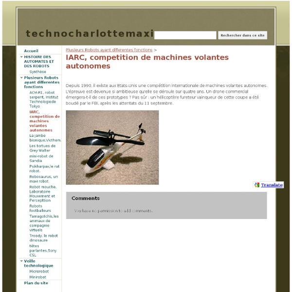 IARC, competition de machines volantes autonomes - technocharlottemaxim
