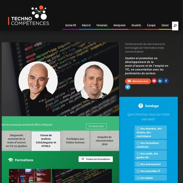 COMITÉ SECTORIEL DE MAIN-D'ŒUVRE EN TECHNOLOGIES DE L'INFORMATION ET DES COMMUNICATIONS