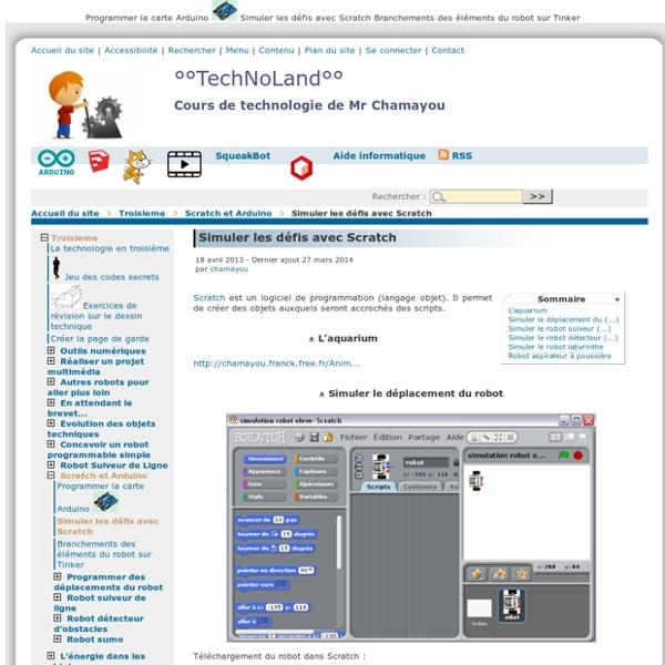 Simuler les défis avec Scratch