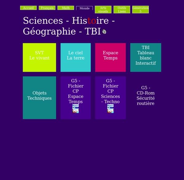 Célèbre Espace et Temps - Sciences et technologie GS CP CE1 - Fiches  XQ14