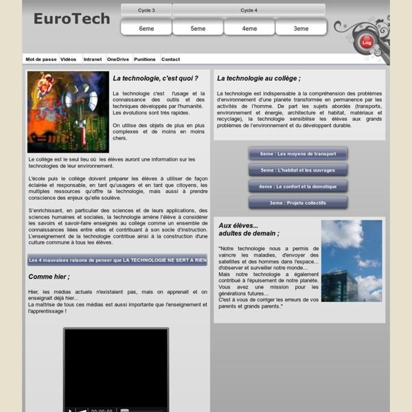 EuroTech - La Technologie au collège