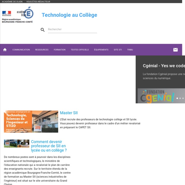 Technologie au collège Dijon