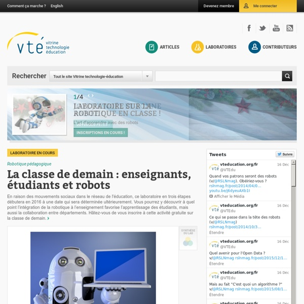 VTÉ - Vitrine Technologie Éducation