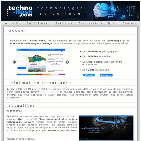 Technologie College - Animations interactives