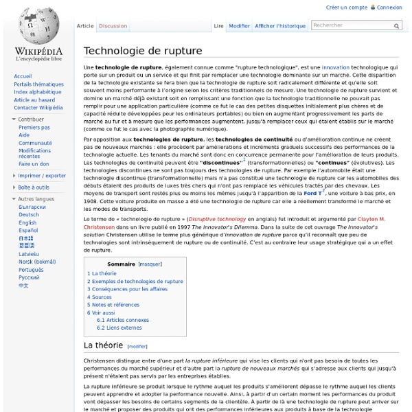 Technologie de rupture