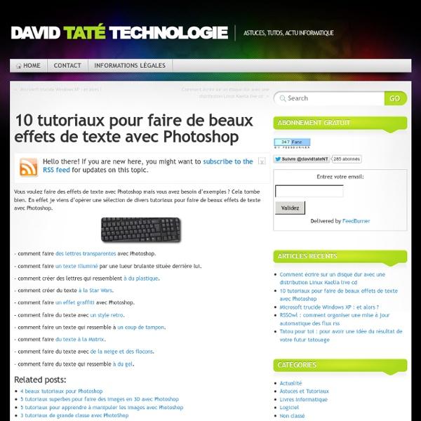 10 tutoriaux pour faire de beaux effets de texte avec Photoshop
