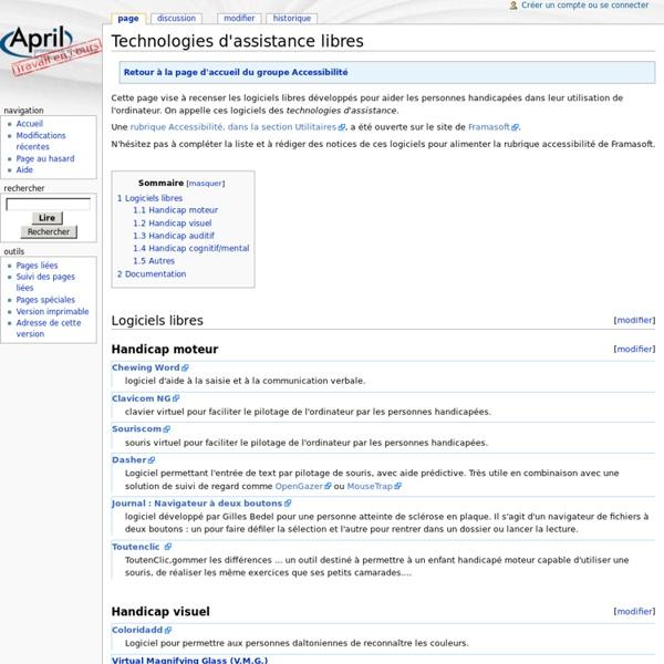 Technologies d'assistance libres