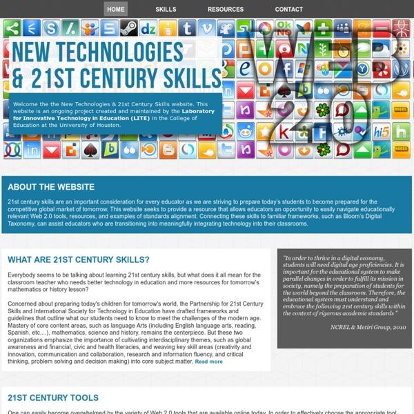 New Technologies and 21st Century Skills