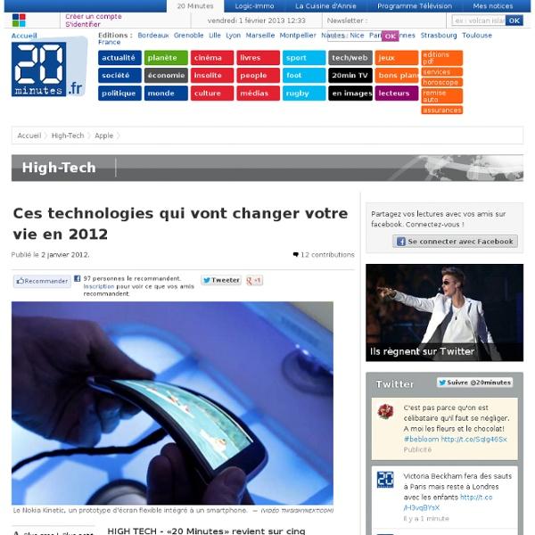 Ces technologies qui vont changer votre vie en 2012