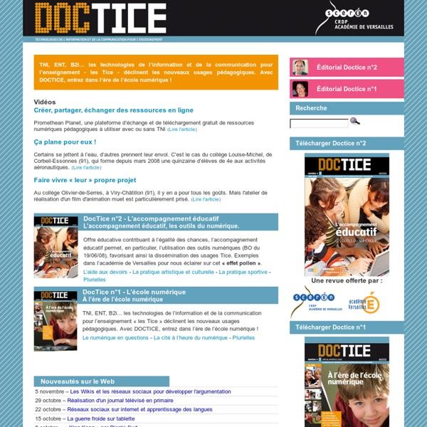Doctice - Technologies de l'Information et de la Communication pour l'Enseignement