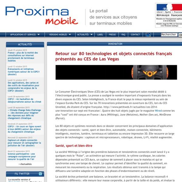 Retour sur 80 technologies et objets connectés français présentés au CES de Las Vegas