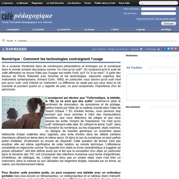 Numérique : Comment les technologies contraignent l'usage