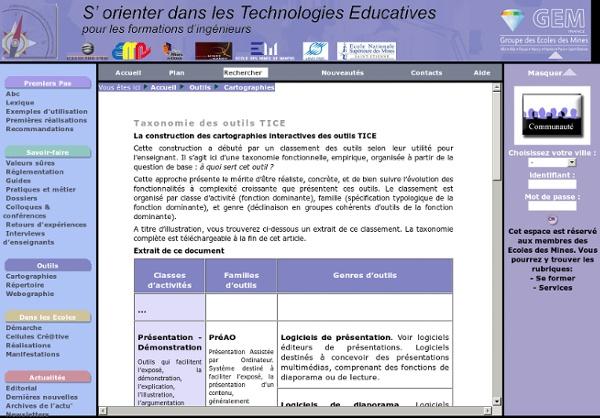 Taxonomie des outils TICE
