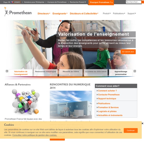 Tableaux Interactifs Et Solutions Pour L'éducation De Promethean : Promethean (French)