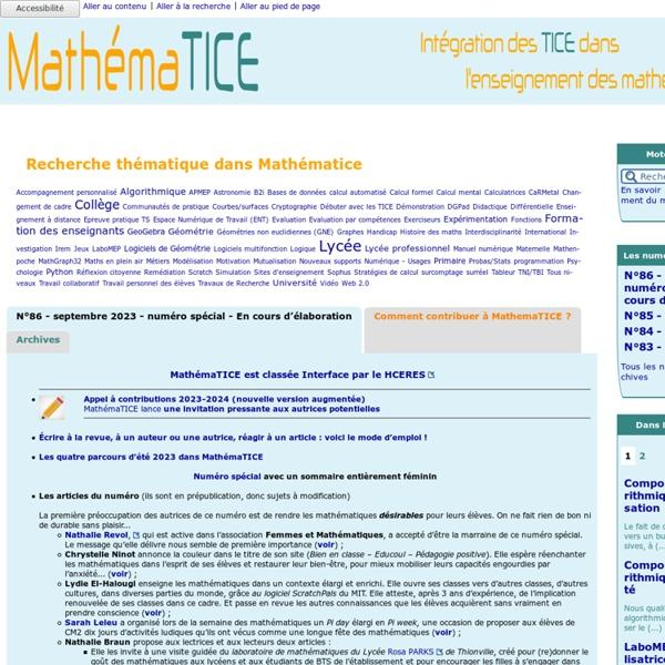Les nouvelles technologies pour l'enseignement des mathématiques