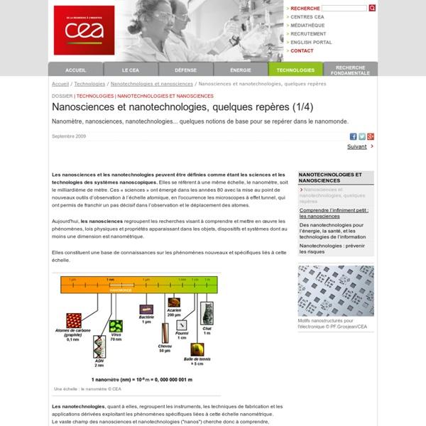 Technologies - Nanotechnologies et nanosciences - Nanosciences et nanotechnologies, quelques repères