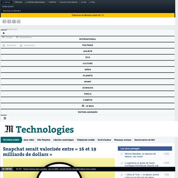 Technologies : Toute l'actualité sur Le Monde.fr.