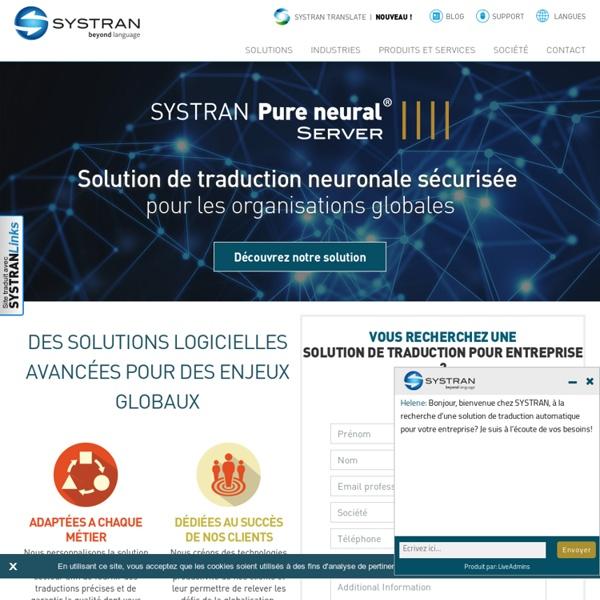Traduction en ligne, logiciels de traduction et serveurs de traduction : SYSTRAN