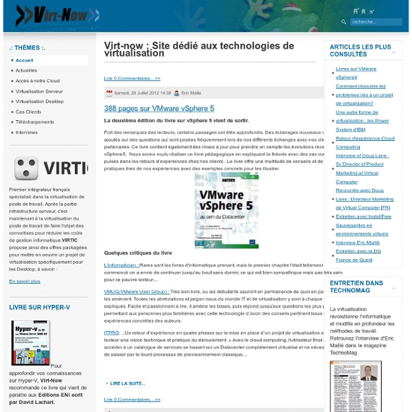 Virt-now : Site français dédié aux technologies de virtualisatio