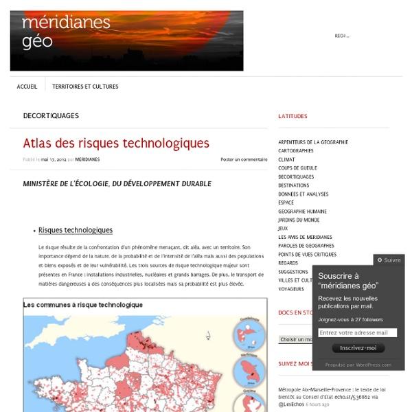 Atlas des risques technologiques