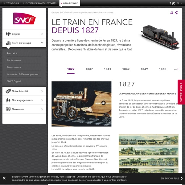 Depuis la première ligne de chemin de fer en 1827, le train a connu péripéties humaines, défis technologiques, révolutions culturelles... Découvrez l'histoire du train et de ceux qui le font.