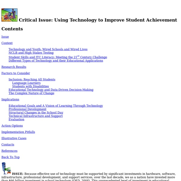 Using Technology to Improve Student Achievement