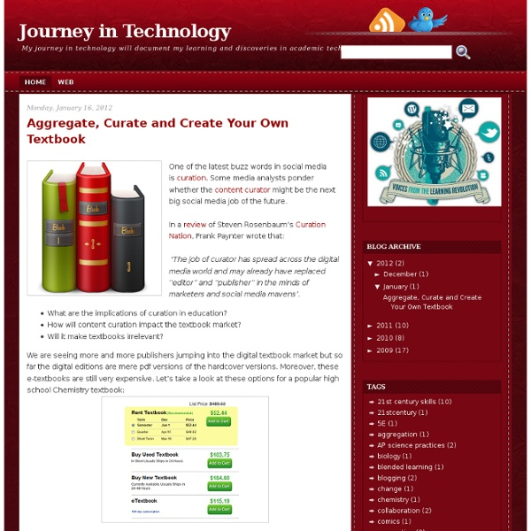Aggregate, Curate and Create Your Own Textbook