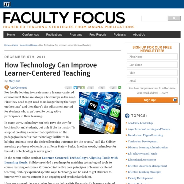 How Technology Can Improve Learner-Centered Teaching