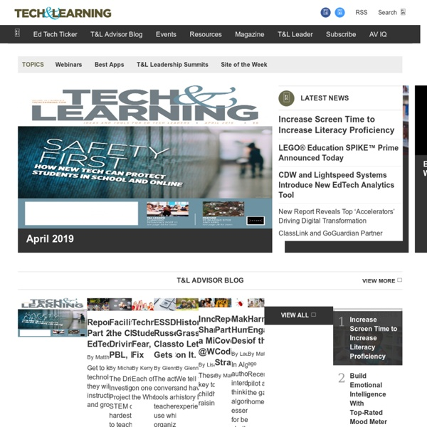 Technology & Learning - The Resource for Educ