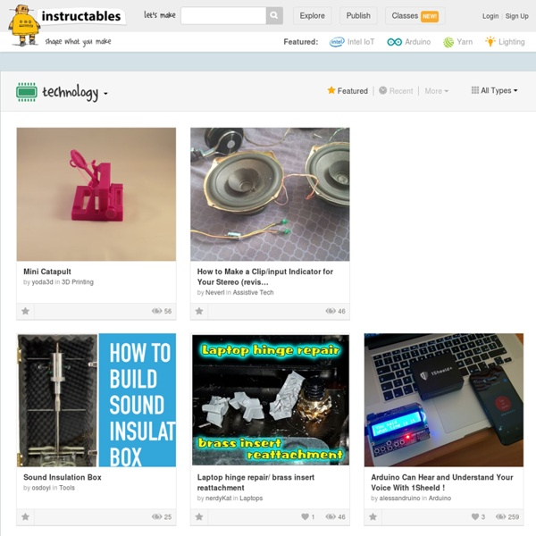 Technology - How to Make Instructables
