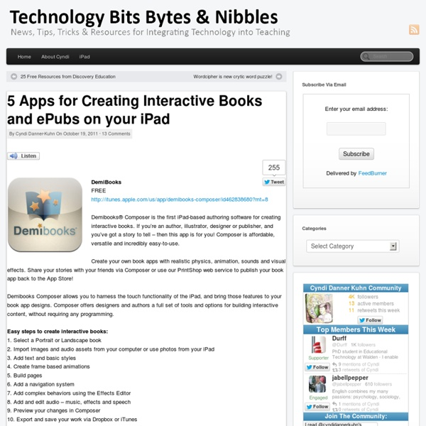 5 Apps for Creating Interactive Books and ePubs on your iPad