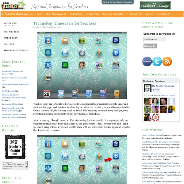 Technology Timesavers for Teachers - myTeachersLounge
