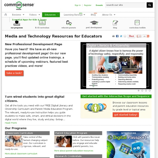 Media and Technology Resources for Educators
