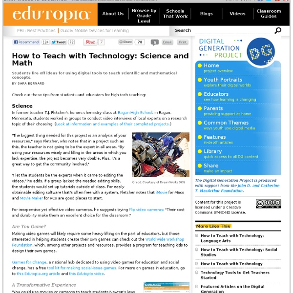 How to Teach with Technology: Science and Math