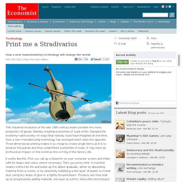 Technology: Print me a Stradivarius