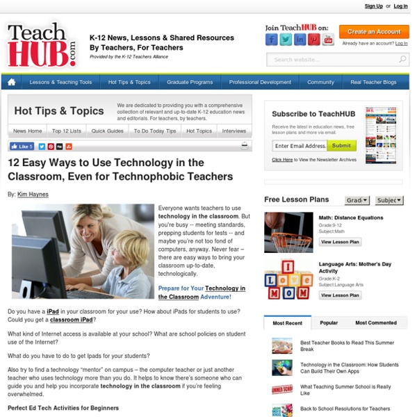 12 Easy Ways to Use Technology in the Classroom, Even for Technophobic Teachers