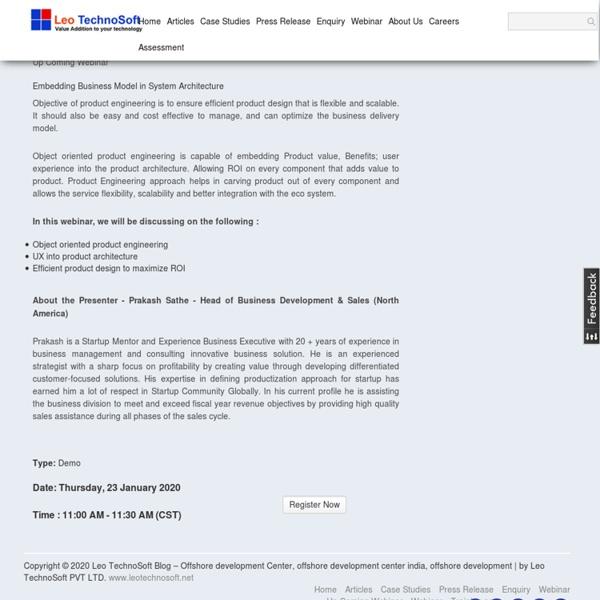 Leo TechnoSoft Blog