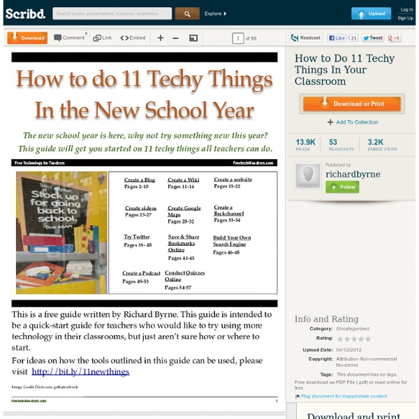 How to Do 11 Techy Things In Your Classroom