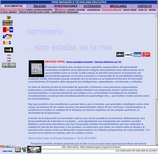 Tecnología educativa - Web de Pere Marquès