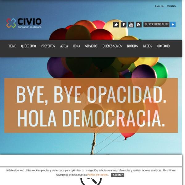 Fundación Ciudadana Civio - Tecnología y Periodismo aplicados a la Transparencia y Apertura de Datos